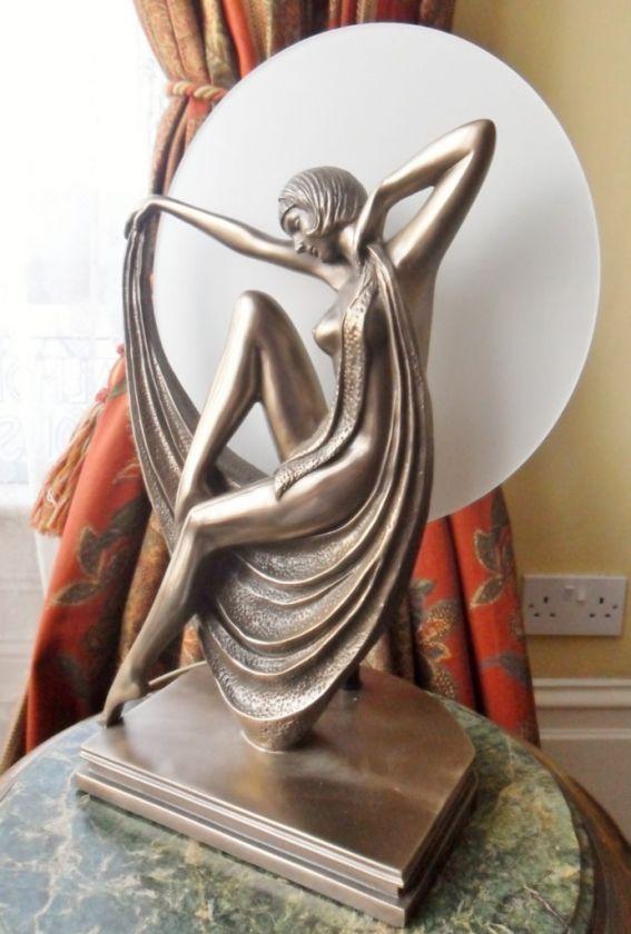 VINTAGE RETRO ART DECO SOFIA LADY FLAPPER BRONZE FIGURE STATUE