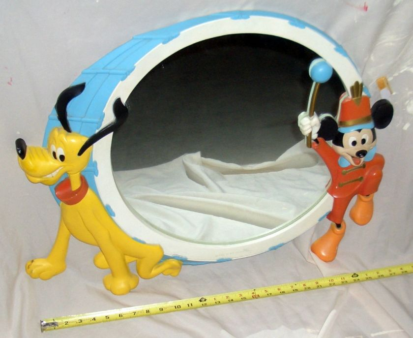 Disney Mickey Mouse and Pluto Drum Mirror Mickey Mouse Club