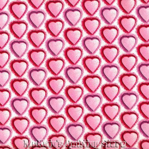HEARTS~Pink & Purple~Valentines Day~Quilt Fabric~1/2 YD