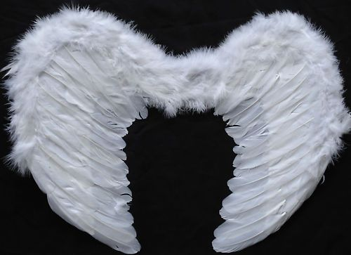 Feather Wings Adult WHITE FAIRY ANGEL 53cm SALE