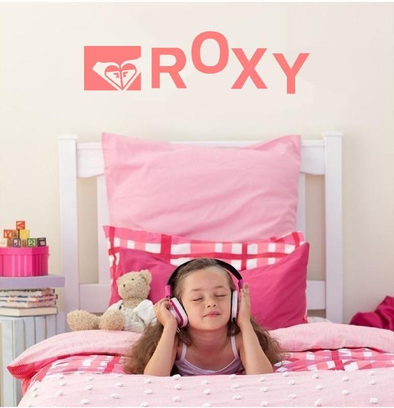 ROXY Girl KIDS VINYL WALL ART BEDROOM VINYL DECAL