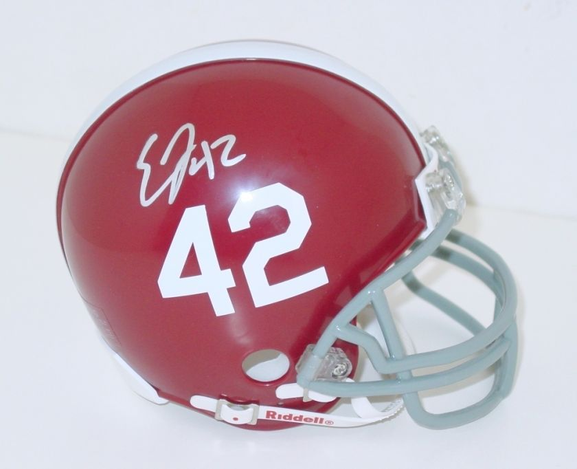 EDDIE LACY Signed/Autographed #42 ALABAMA CRIMSON TIDE Mini Helmet w
