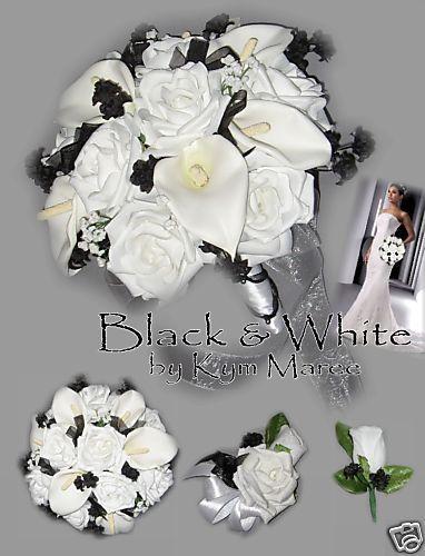 Black & White Wedding Flowers, Black & White Bouquets